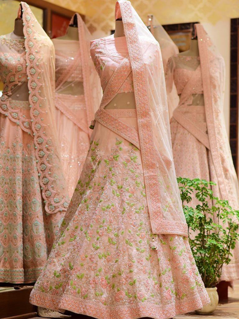 Light pink bridal lehenga by Vasansi