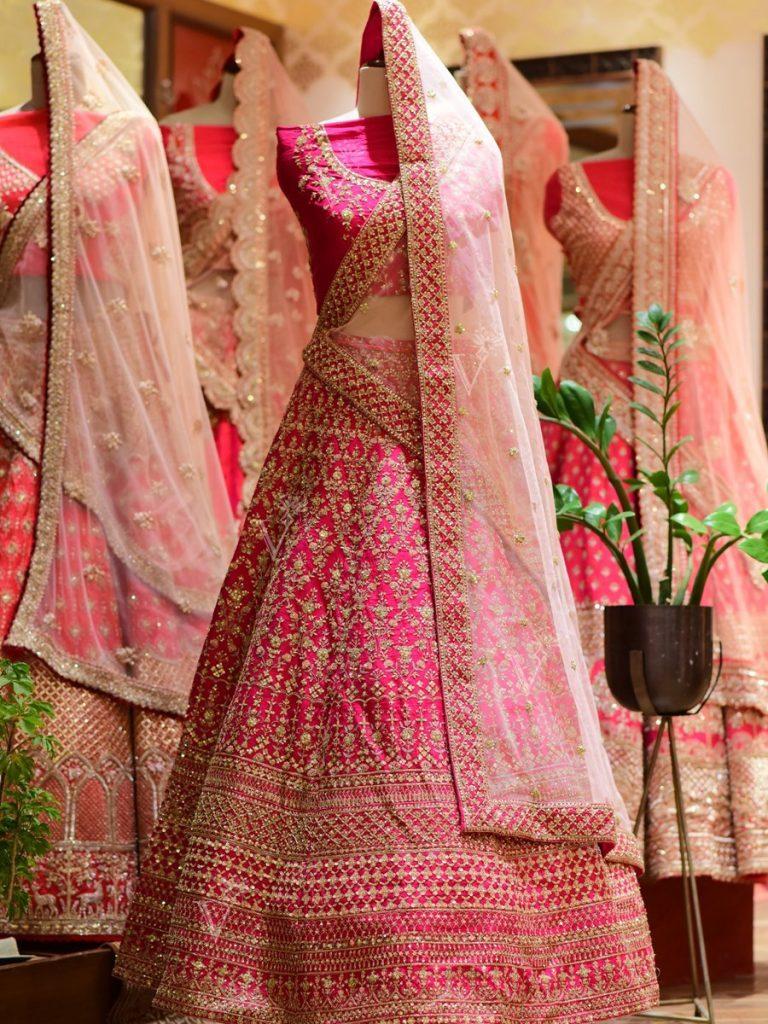 bridal lehenga in pink by vasansi