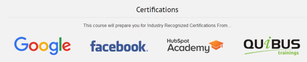 Digital Marketing Certifications from digital marketing course in Jaipur