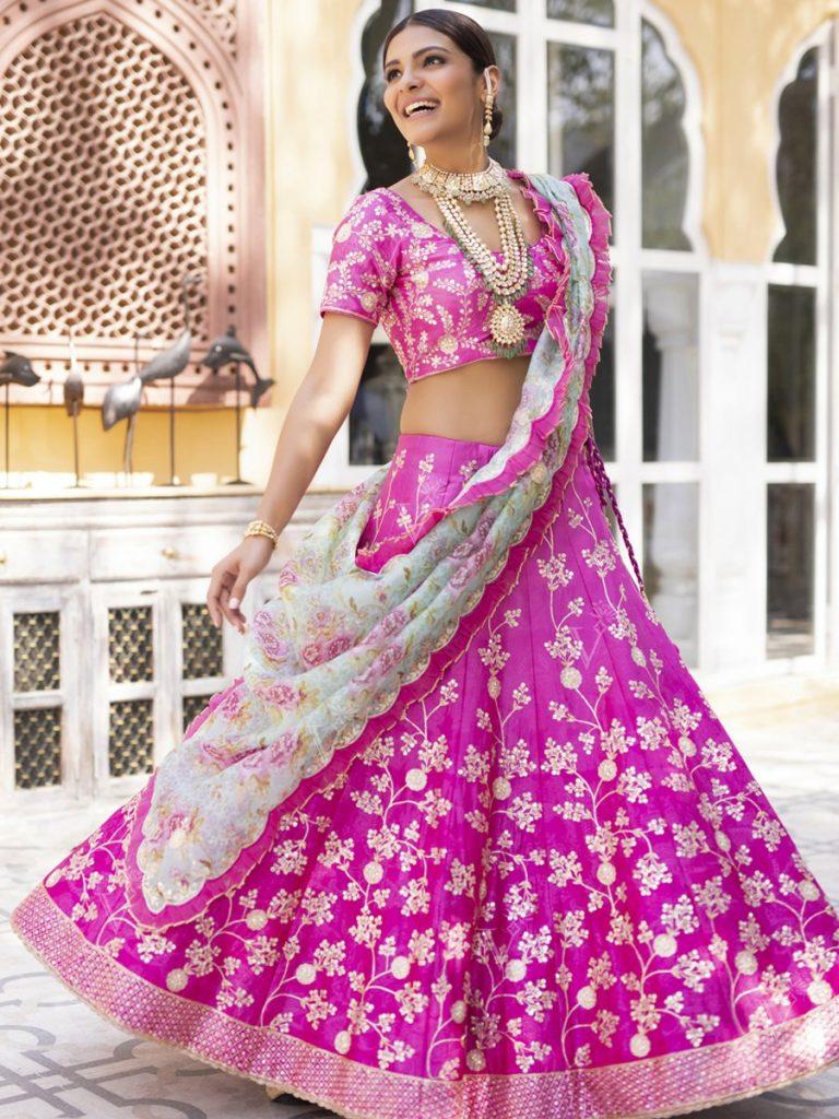 gota patti  wedding lehenga from Vasansi Jaipur