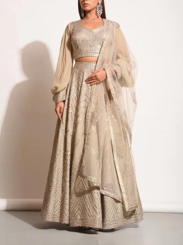Silk embellished Lehenga Choli -Vasansi .com