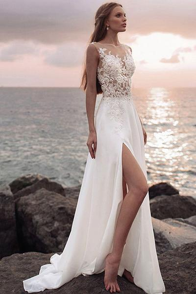 Beaded cut out sides dress