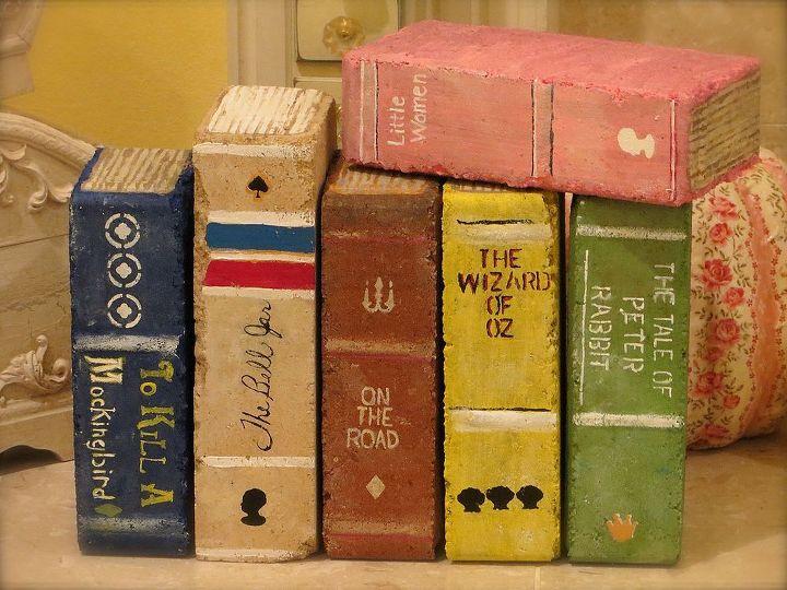 Brick book for garden decoration ideas
