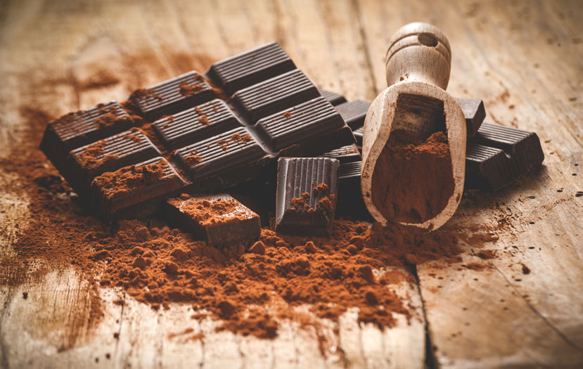 Dark chocolate which helps to burn calories fat.