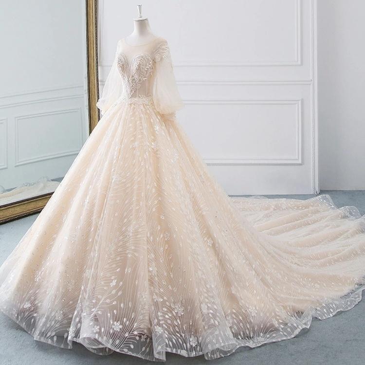 Diamond sparkle wedding dress