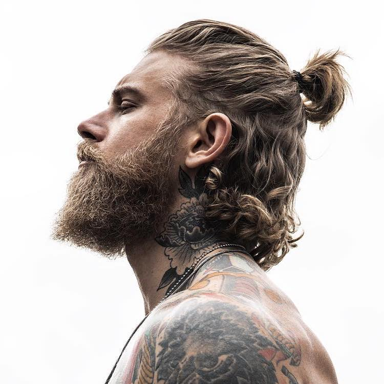 Half up hairstyle for men