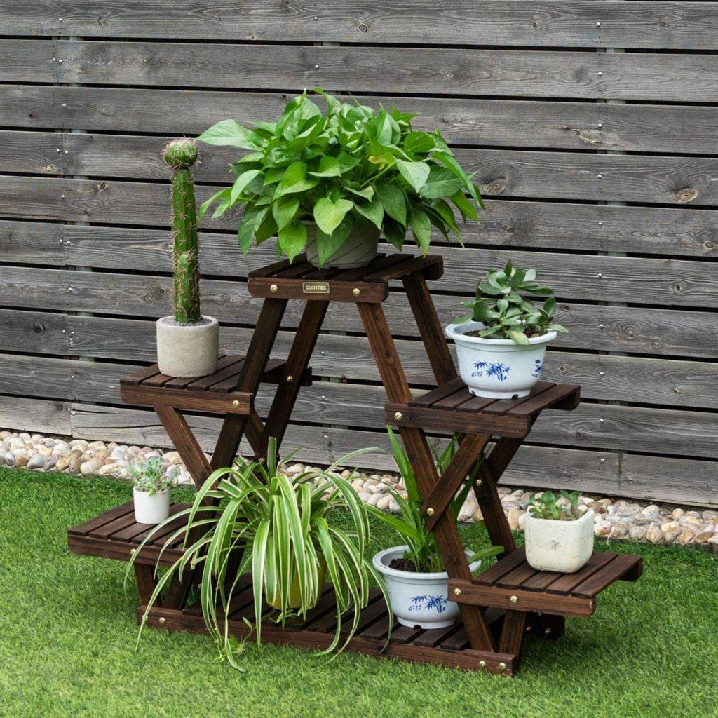 Ladder flowerpot display