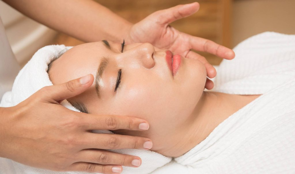 Massage your face to get glowing skin
