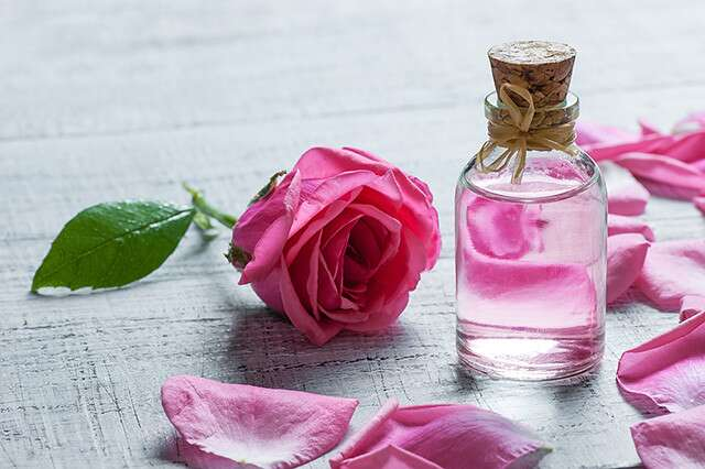 Rose water for glowing skin