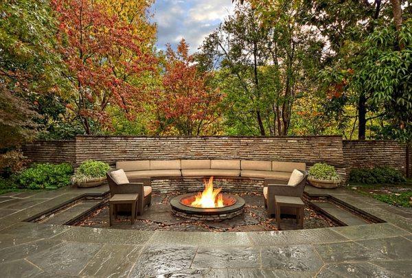 Elegant sitting area in garden