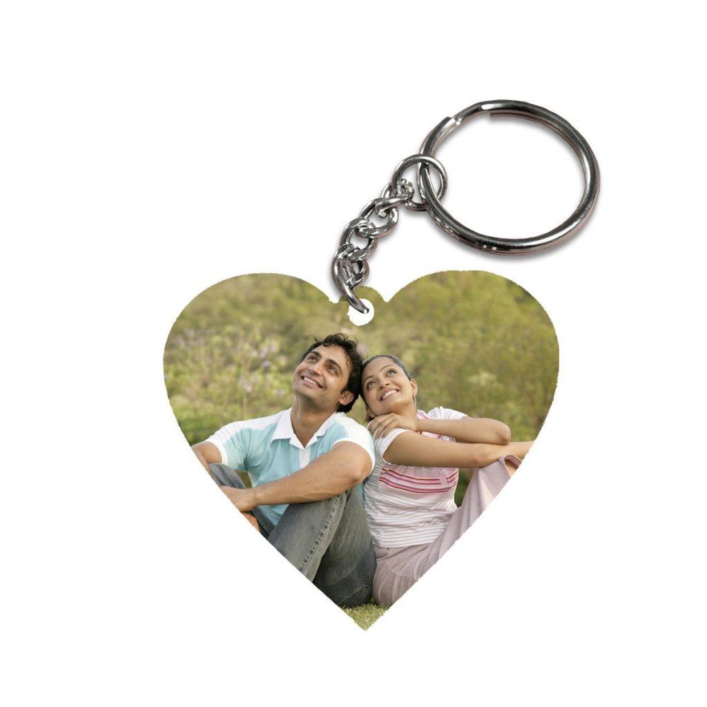 Wooden Heart keychain